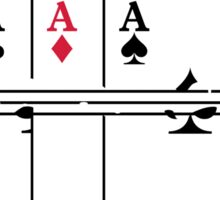 Shoot the Deck of Cards VRS2 Sticker