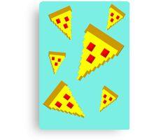 Pixel Pizza (B) Canvas Print