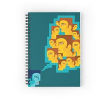 creative think a man for people Spiral Notebook