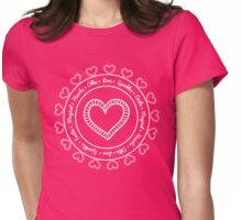 Emilie's Love Heart Womens Fitted T-Shirt