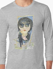 Girl in the city park Long Sleeve T-Shirt