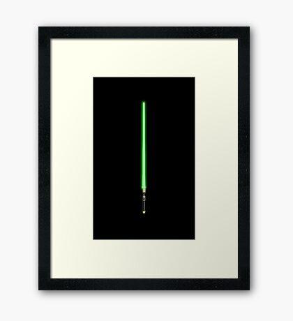 Star Wars Lightsaber Framed Print