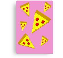 Pixel Pizza (P) Canvas Print