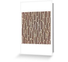 Seamless black and white leaf pattern Greeting Card