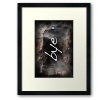 Bye...British Phone Box in Space Framed Print