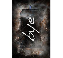 Bye...British Phone Box in Space Photographic Print