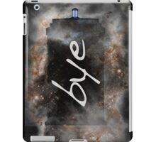 Bye...British Phone Box in Space iPad Case/Skin