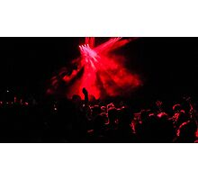 Red Concert peoples Photographic Print