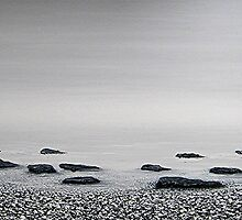 the beach : still life III by Martin Rolt
