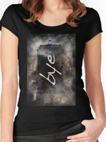 Bye...British Phone Box in Space Women's Fitted Scoop T-Shirt