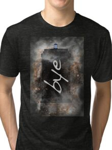 Bye...British Phone Box in Space Tri-blend T-Shirt