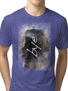 Bye...British Phone Box in Space Tri-blend T-Shirt