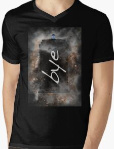Bye...British Phone Box in Space Mens V-Neck T-Shirt