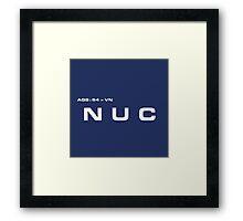 2001 A Space Odyssey - HAL 900 NUC System Framed Print