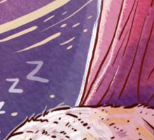 Sleepin' Pug Sticker