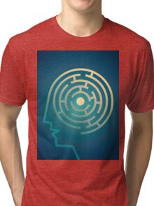 Confused Mind The labyrinth inside the head Tri-blend T-Shirt