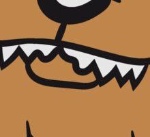 evil pitbull dangerous attack dog big monster dog Sticker