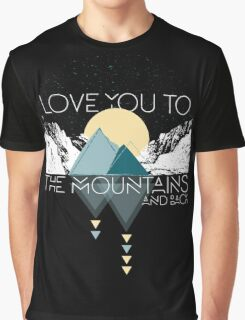 Mountains and Back  Graphic T-Shirt