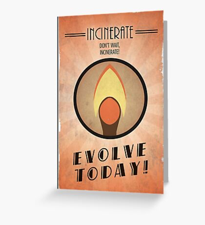 Bioshock Plasmid Poster Incinerate Greeting Card