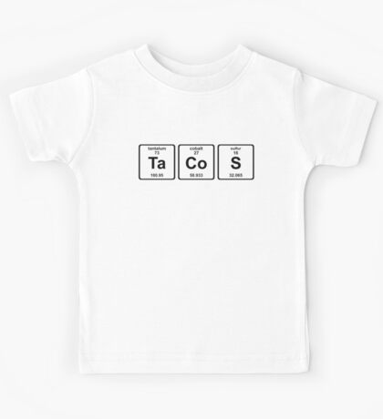 Breaking Bad - Tacos and Chemistry Kids Tee