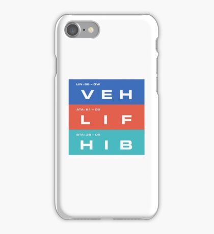2001 A Space Odyssey - HAL 9000 VEH, LIF & HIB Systems iPhone Case/Skin