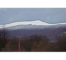 Bieszczada Mountains . Feb.03.2016. Photographic Print