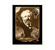 Jules Verne Tribute Art Print