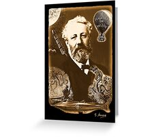 Jules Verne Tribute Greeting Card