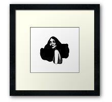 Black Haired Beauty Framed Print
