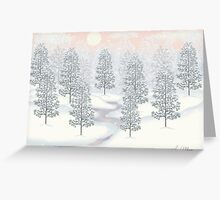 Snowy Day Winter Scene Print Greeting Card