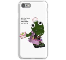 Daisy Gator. Innocent until proven guilty iPhone Case/Skin