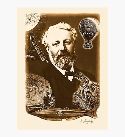 Jules Verne Tribute (natural creme white) Photographic Print