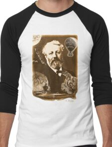 Jules Verne Tribute (natural creme white) Men's Baseball ¾ T-Shirt