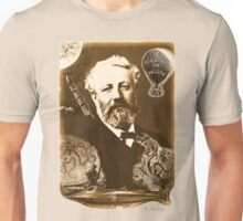 Jules Verne Tribute (natural creme white) Unisex T-Shirt