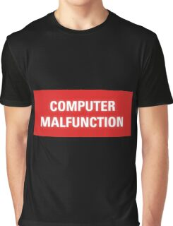 2001 A Space Odyssey - HAL 9000 Computer Malfunction Graphic T-Shirt