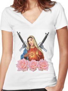 virgin alaska Women's Fitted V-Neck T-Shirt