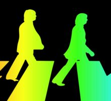 The Beatles Abbey Road Rainbow Sticker