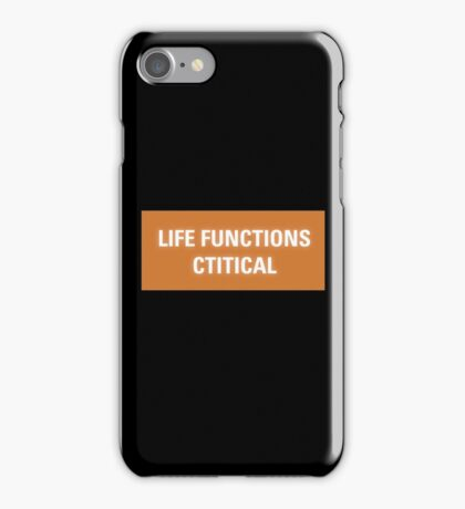 2001 A Space Odyssey - HAL 9000 Life Functions Critical Error iPhone Case/Skin
