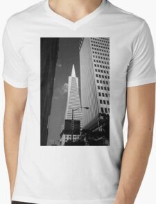 San Francisco - Transamerica Pyramid Building Mens V-Neck T-Shirt