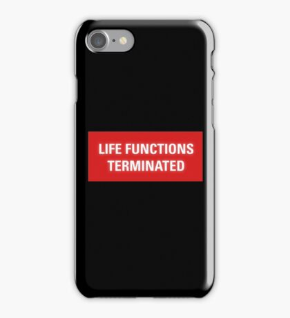 2001 A Space Odyssey - HAL 9000 Life Functions Terminated Error iPhone Case/Skin