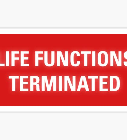 2001 A Space Odyssey - HAL 9000 Life Functions Terminated Error Sticker