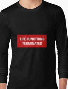 2001 A Space Odyssey - HAL 9000 Life Functions Terminated Error Long Sleeve T-Shirt