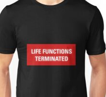 2001 A Space Odyssey - HAL 9000 Life Functions Terminated Error Unisex T-Shirt
