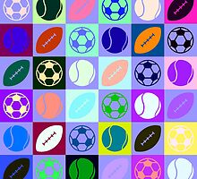Sports Ball Pattern by Michael Moriarty