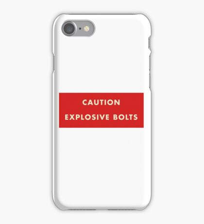 2001 A Space Odyssey - Caution Explosive Bolts iPhone Case/Skin