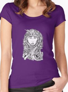 Cosmic Flesh Goddess  Women's Fitted Scoop T-Shirt