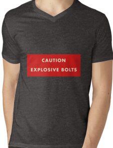 2001 A Space Odyssey - Caution Explosive Bolts Mens V-Neck T-Shirt