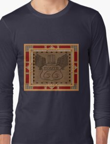 Route 66 america highway USA historic Long Sleeve T-Shirt