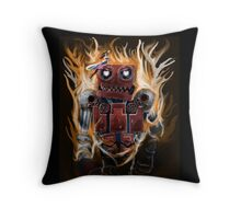 The Lady And the Robot Throw Pillow