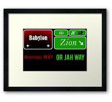 Jah Way Framed Print